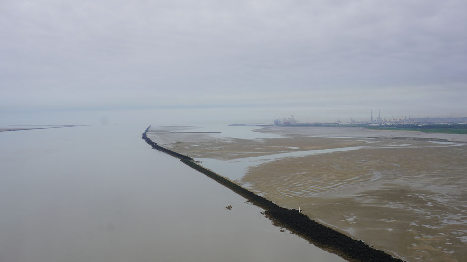 Brückenaussicht Richtung Le Havre