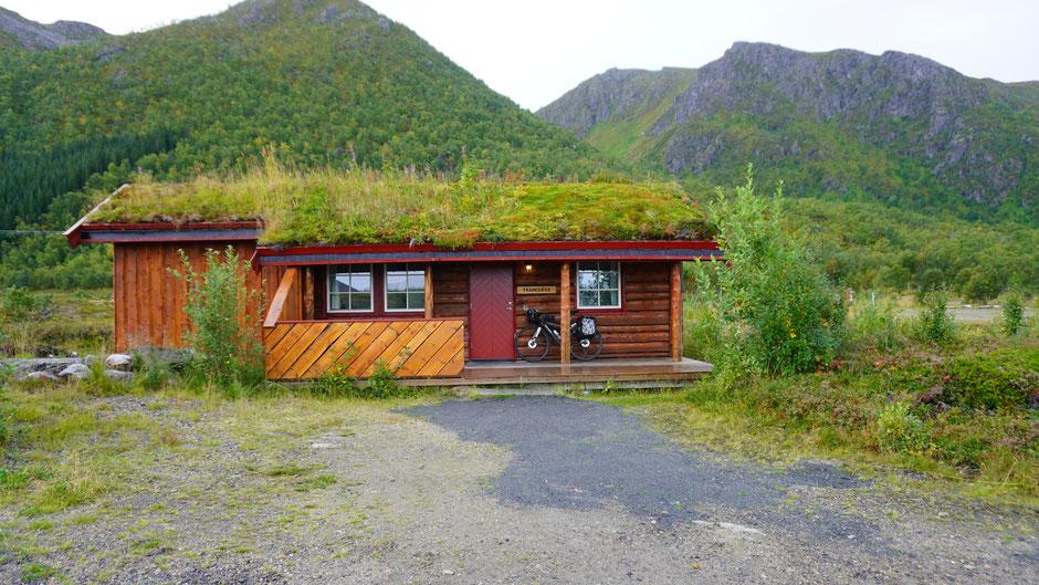 Andøy Friluftssenter - diese Unterkunft kam mir am Weg sehr gelegen
