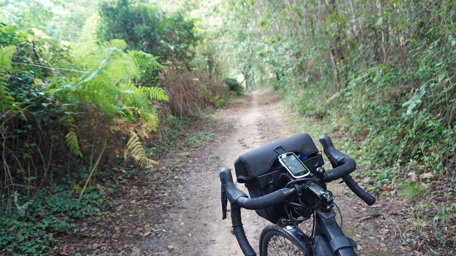 Wanderweg statt Radweg ...
