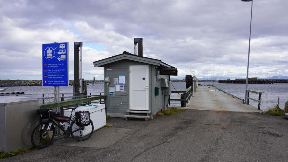 An dieser Fährstelle ging nichts mehr weiter. Betrieb war schon eingestellt.