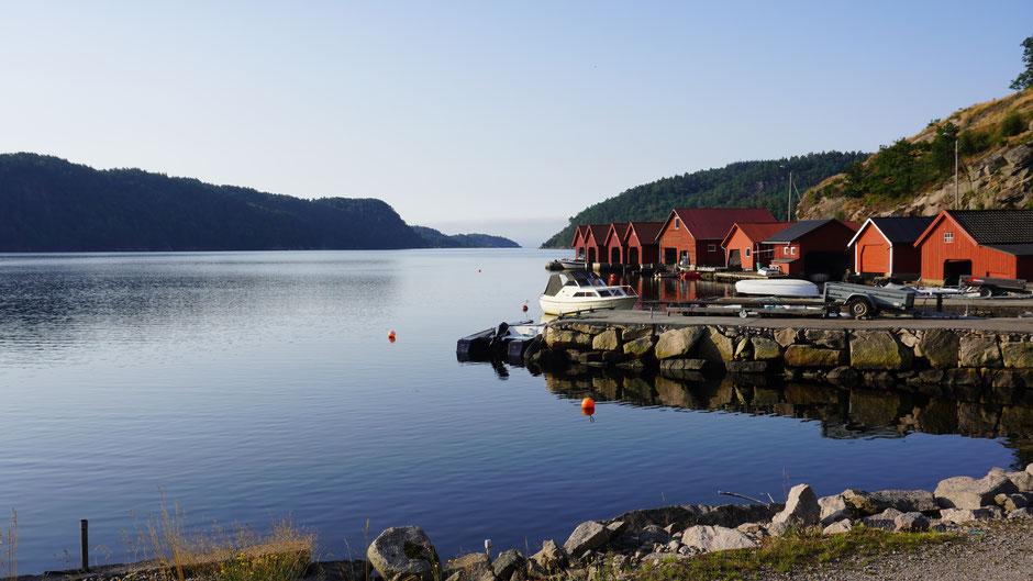 Bootshäuser - die müssen rot sein