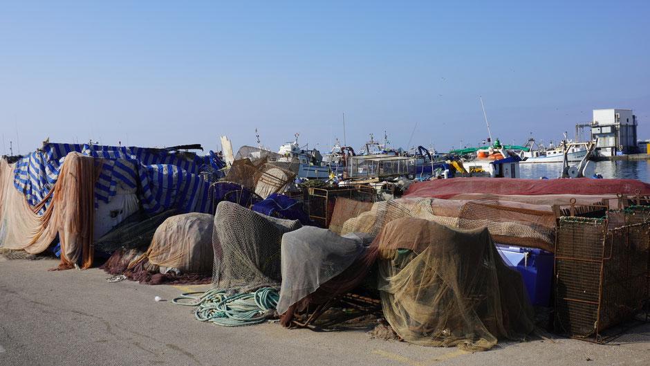 Bei so viel Fischernetzen kennt sich wohl kein Fisch mehr aus ...