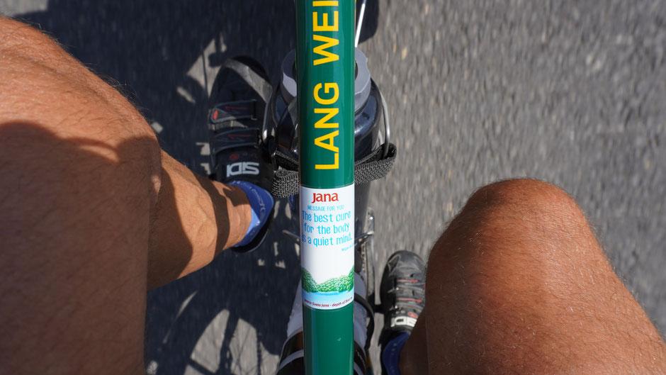 Ich schmück mein Rad gleich mit einer neuen Banderole zur Motivation