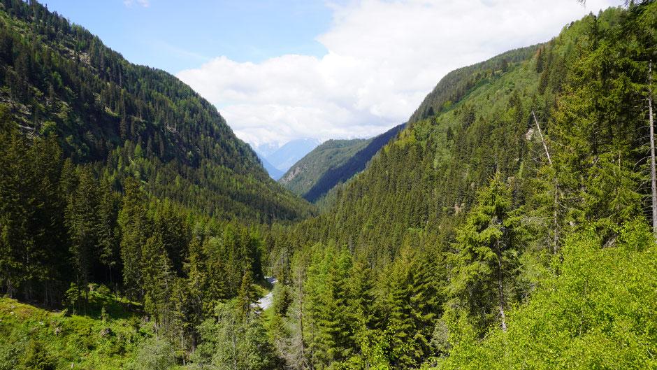 Blick duch das Tal zurück - Ötz ist schon lange nicht mehr zu sehen