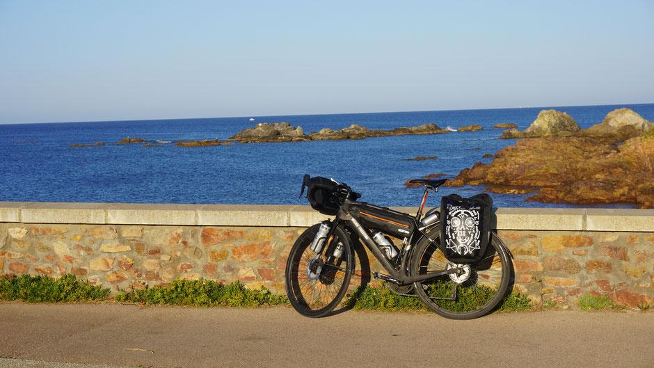 Ausblick mit Fahrrad