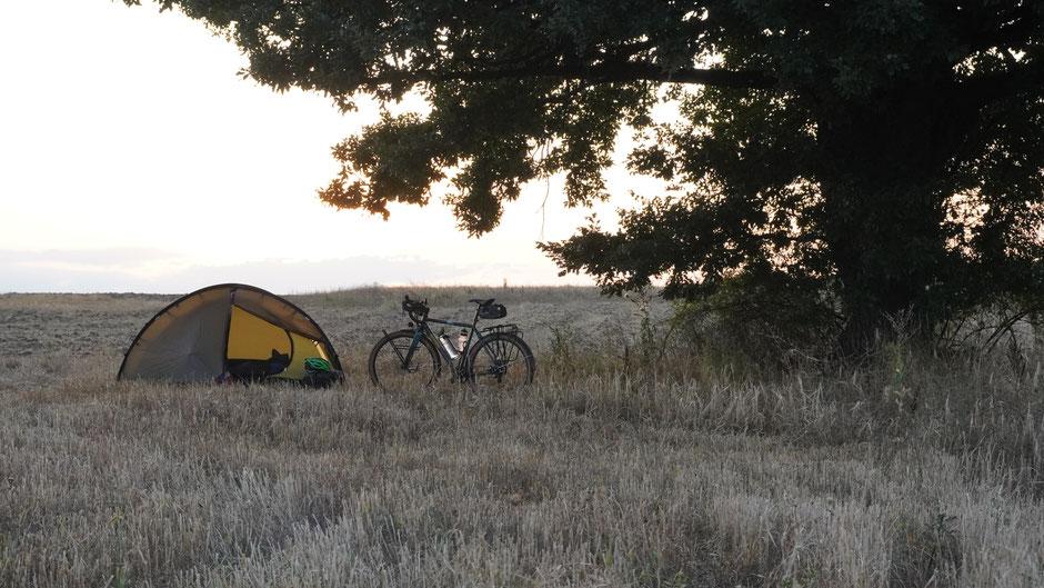 Ein feiner Zeltplatz am Abend