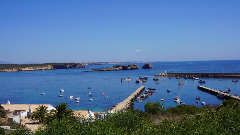 Hafen und Küste bei Sagres
