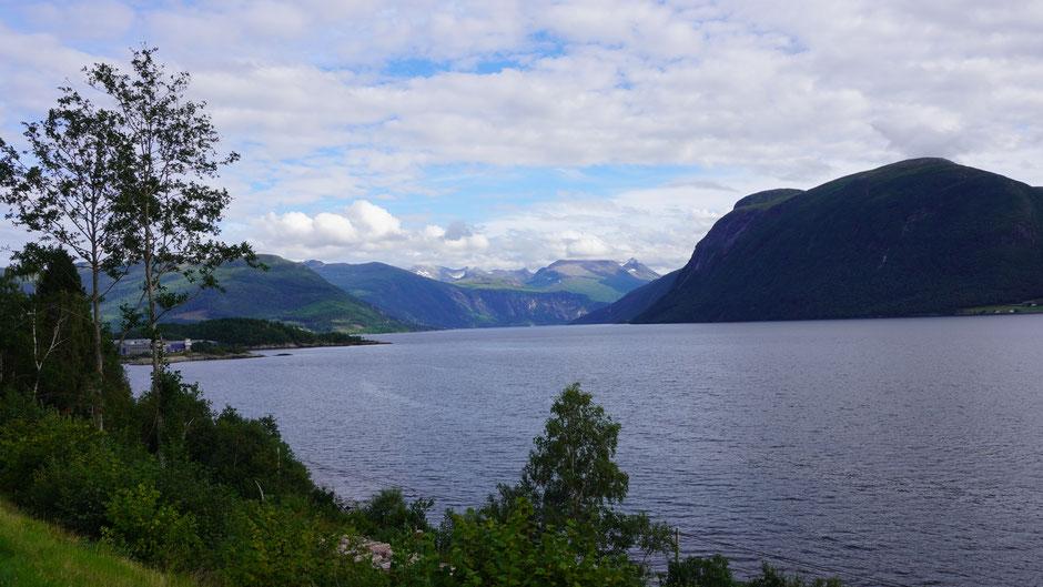 Der Langfjord macht seinem Namen alle Ehre, möchte gerne Extralang genannt werden