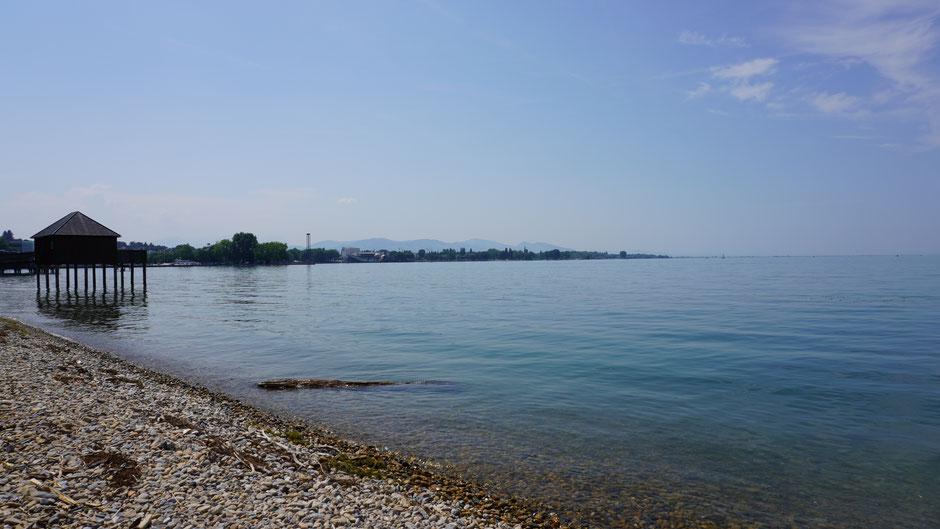 Ein letzter Blick zurück übern See bevor es Richtung Allgäu geht ...