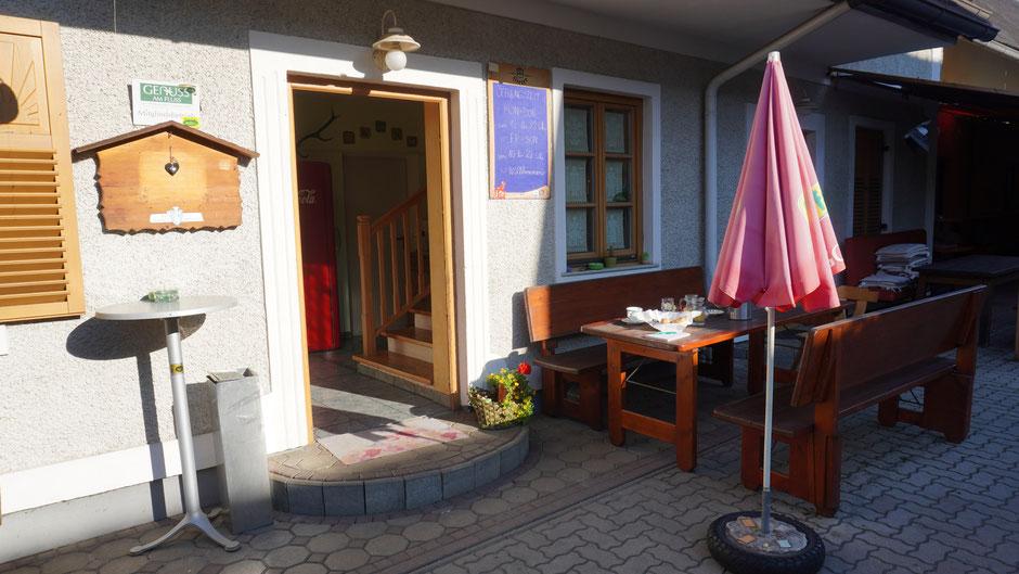 Feines Frühstück im Radlergasthof