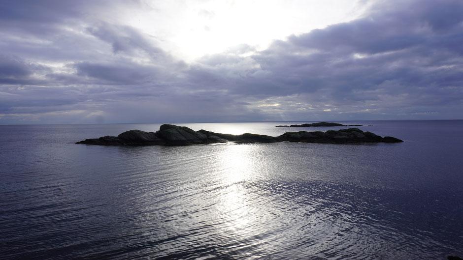 Irgendwo hinten am Horizont ist der Rest von Norwegen