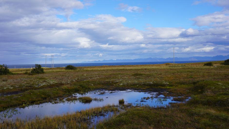 Ein Blick auf die andere Fjordseite. Auf Senja wollte ich weiterfahren ...