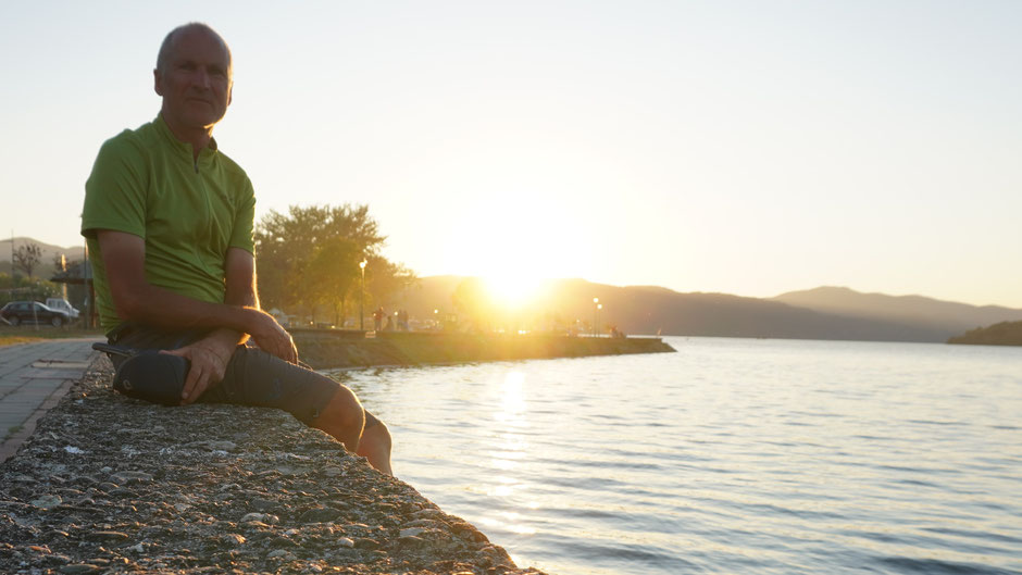 Abends am Donauufer ...