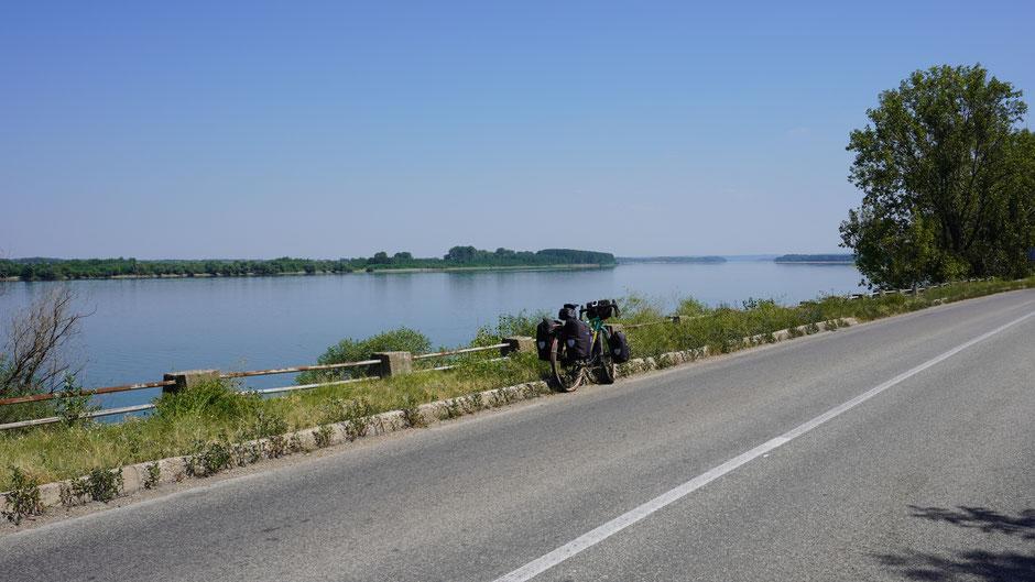 Ein letztes Bild noch von der Donau, bevor ich nach rechts abbiege ....