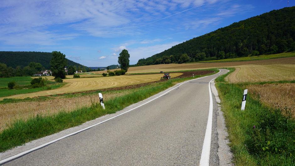 Ideale Straßen für Radler - wunderbar ...