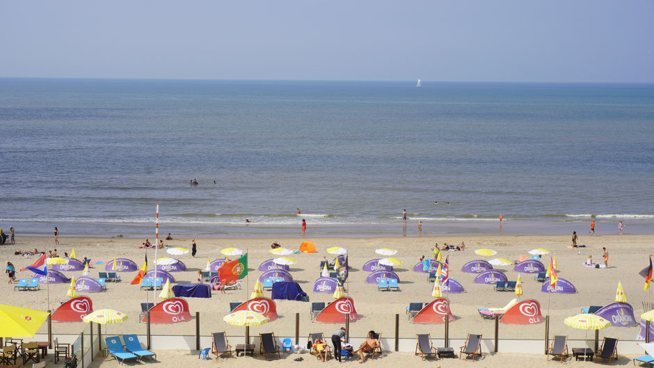 Bunte Iglos am Strand