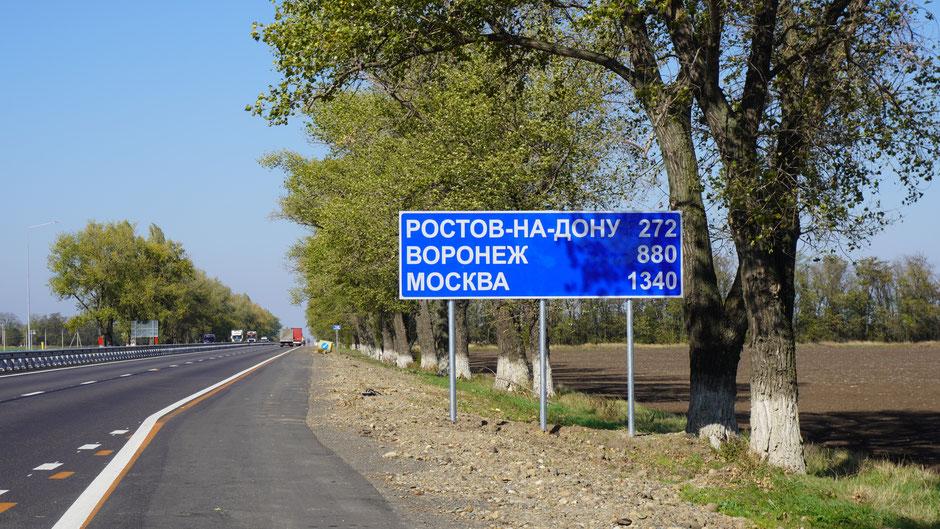 Uihh, da ist ja Moskau angeschrieben, und gar nicht so weit entfernt