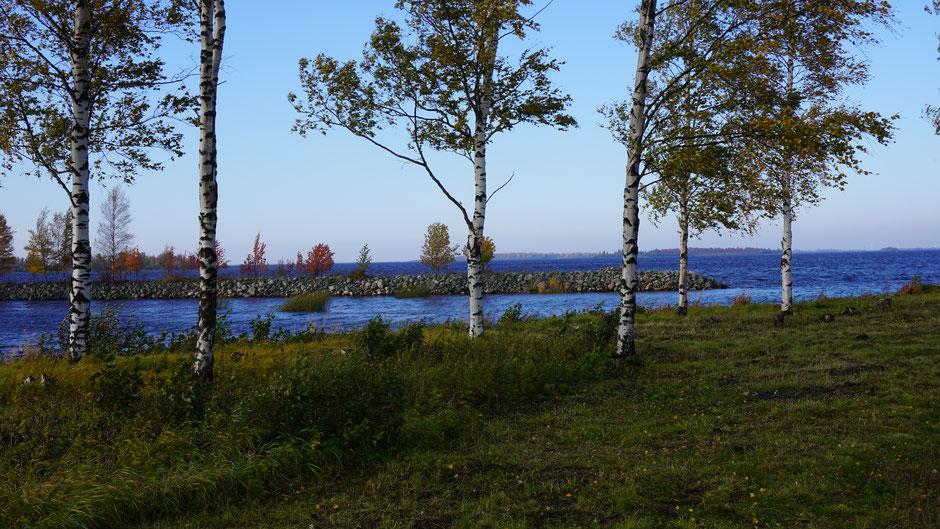 Die Ostsee zeigt sich mit einem etwas aufgewühlten Blau