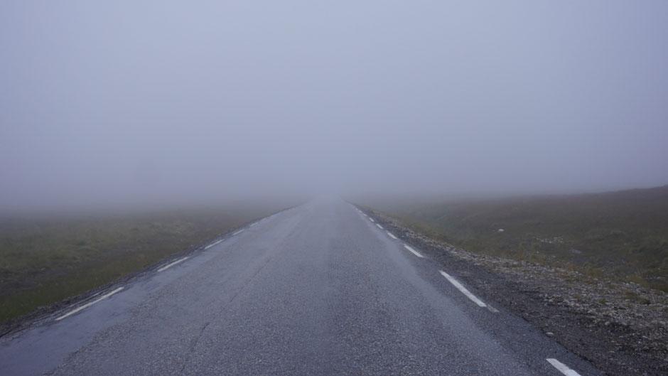 Nebel und Regen, alles kein Problem. Hauptsache kein Wind ...