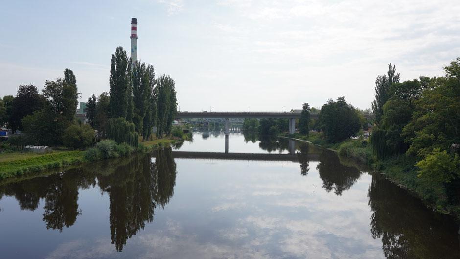 Ganz unerwartet - das soll die Elbe sein ....