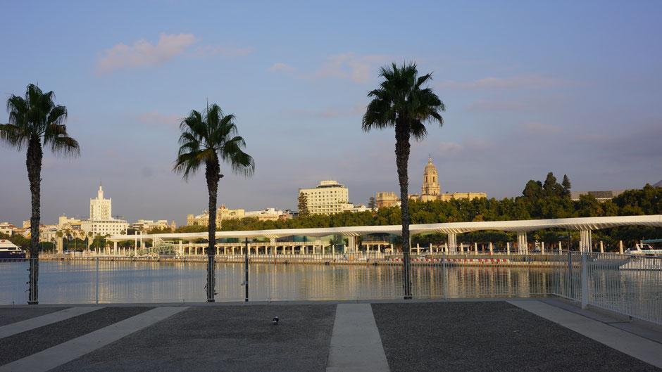 Malaga in der Morgensonne