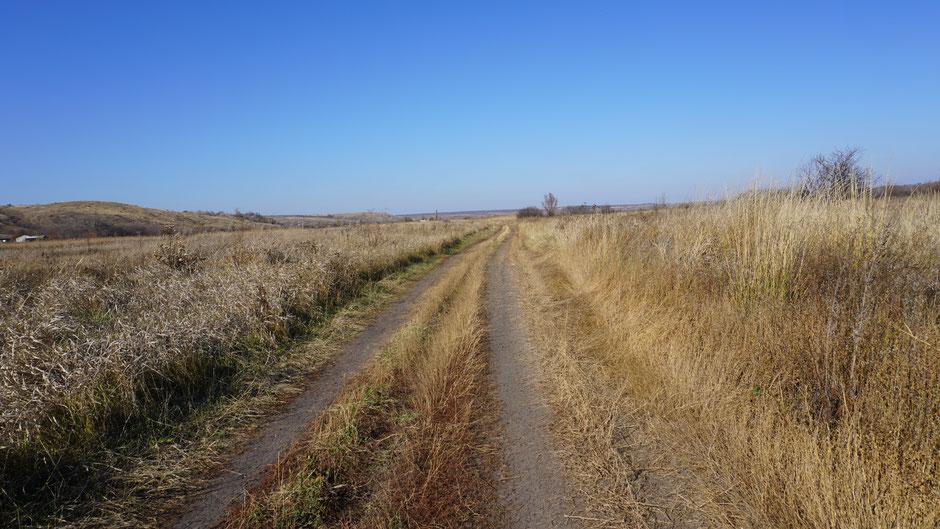 Landschaftlich schön, und weit und breit kein Verkehr