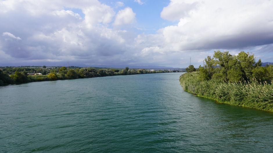 Der Ebro macht einen prächtigen Eindruck ...