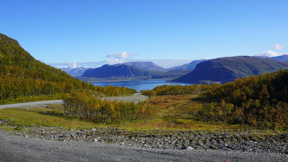 Abfahrt, und schon zeigt sich wieder ein Fjord ...