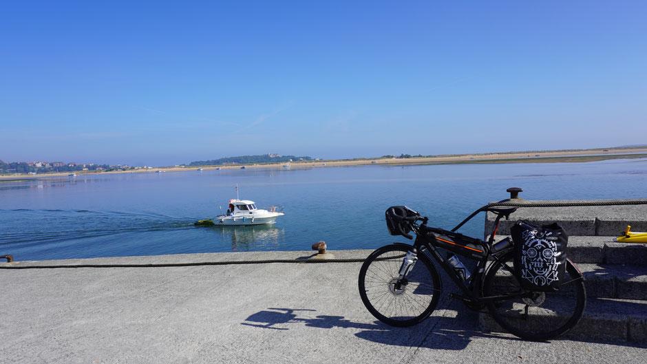 Vor Santander, bereit zur Überfahrt ...