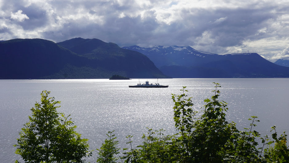 Ohne Fähren kommt man in Norwegen nicht weit ...