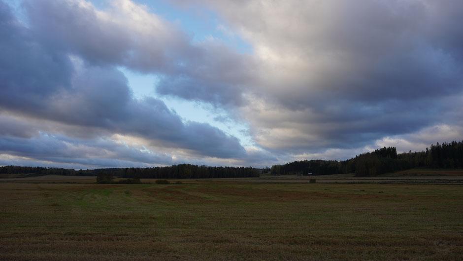 Wolkenstimmung. Es hellt auf ,,,