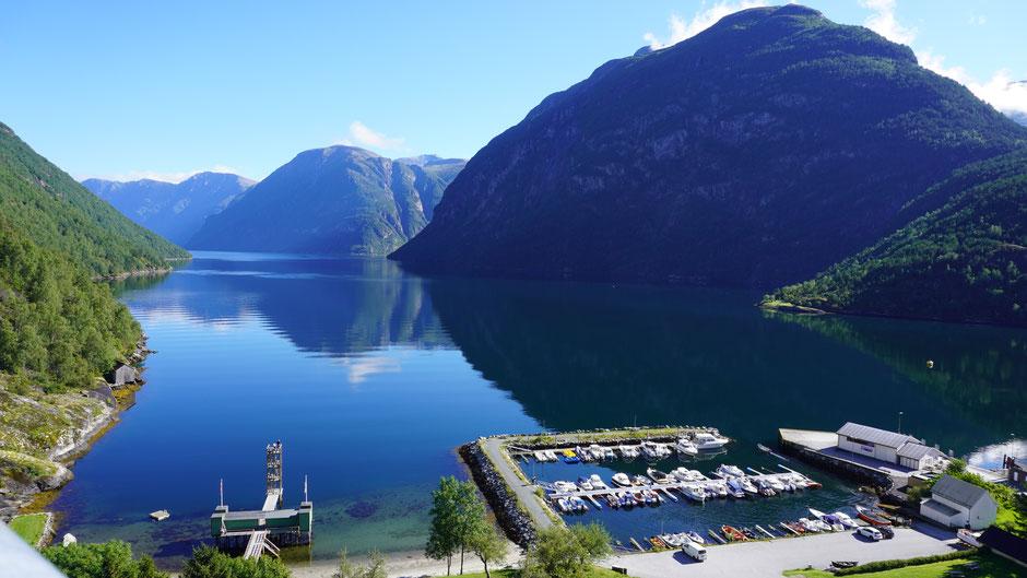 Hier geht es Richtung Geirangerfjord