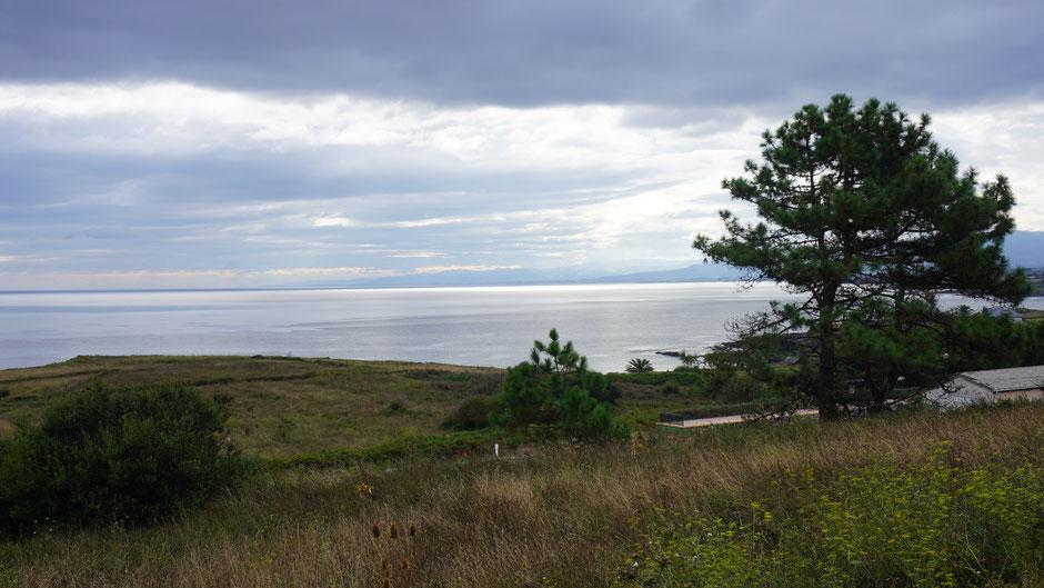 Ein Blick zurück auf die Küste meines Biskayabogens
