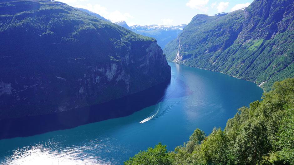 Geirangerfjord aus der Vogelperspektive