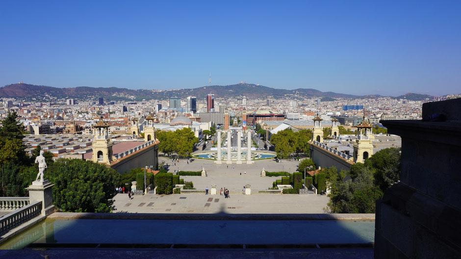 Ausblick von Sants-Montjuïc ...