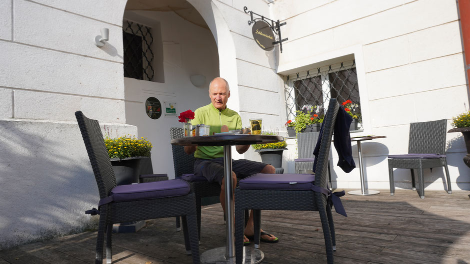 Frühstück im Schlosshotel - so lässt es sich gut starten ...