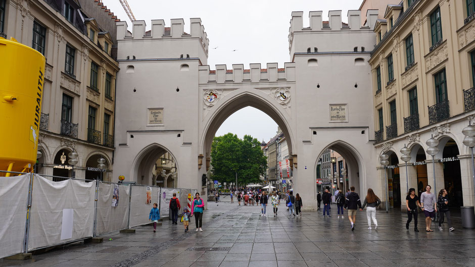 Das Karlstor, westliches Eingangstor zur historischen Altstadt von München
