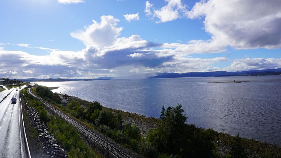 Der Trondheimfjord saugt Wasser von oben