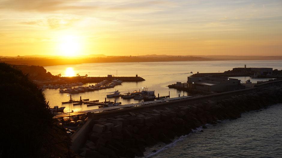 Morgenstimmung überm Hafen