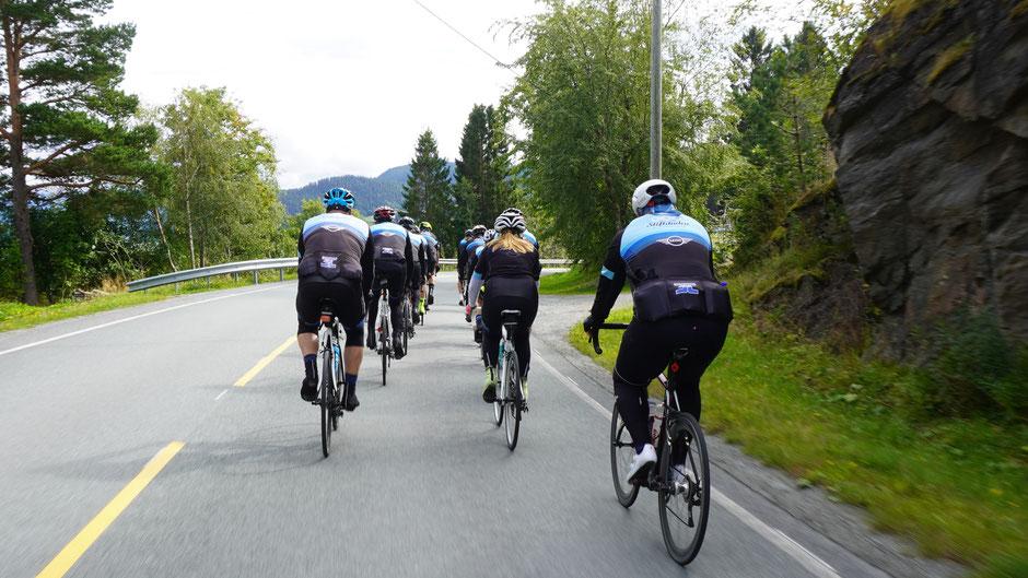 Mit einem Radclub als Tempomacher geht was vorwärts ...