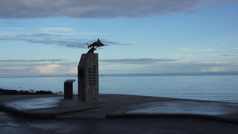 Erinnerung an den 2. Weltkrieg-: Ein U-Boot ist hier untergegangen