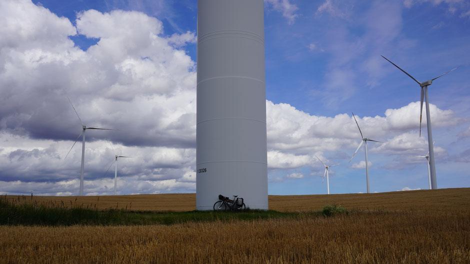 Größenverhältnis Pedalkraft zu Windkraft