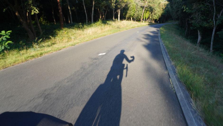 Dem Schatten nachfahren ...