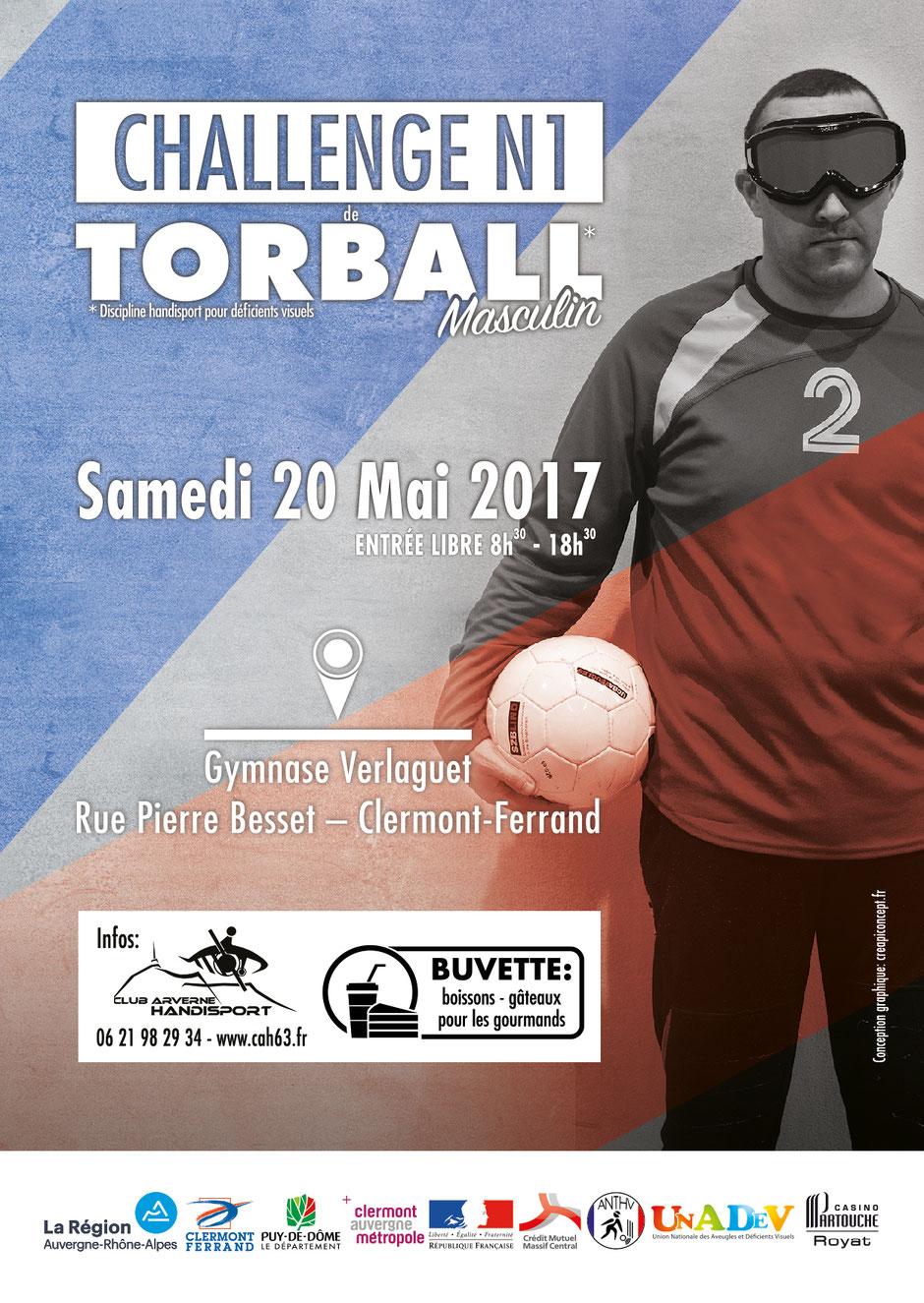 Affiche du Challenge N1 de Torball Masculin