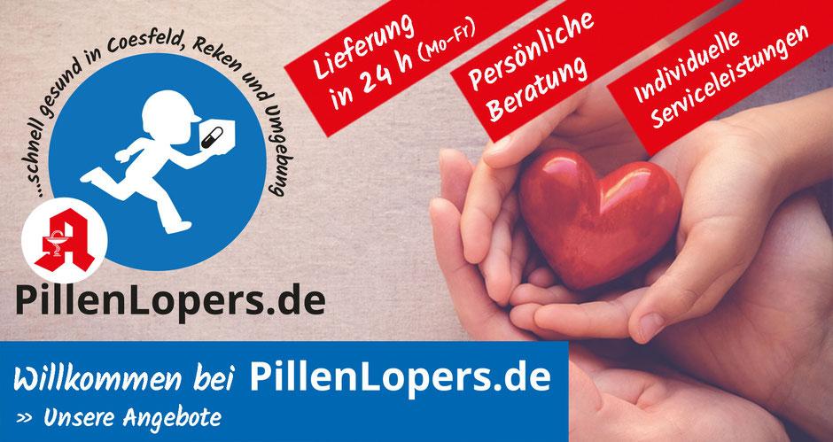 Pillenlopers.de – Apothekenboten-Service Coesfeld & Reken