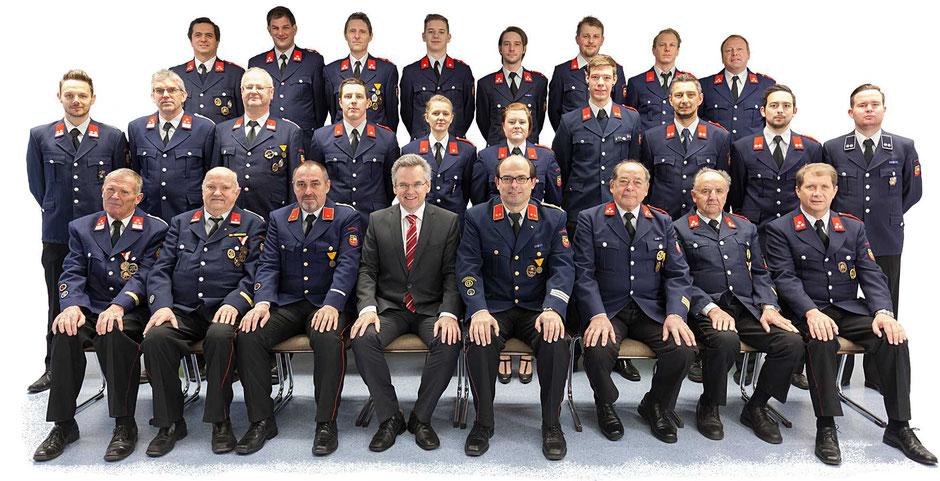 Feuerwehr Pischeldorf Mannschaftsfoto 2018