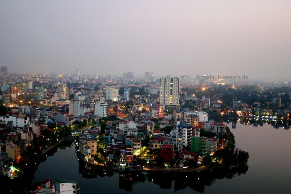 Alt und schön: Die Gegend am Truc-Bac-See in Hanoi.