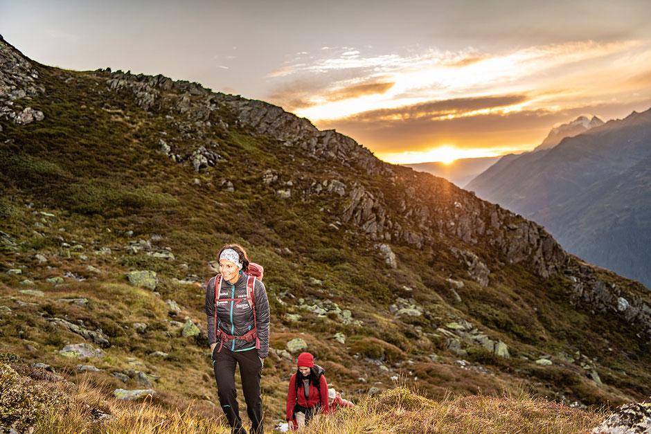 Sonnenaufgang Wanderung WIRT ab St.Christoph am Arlberg - Berggeistweg/Kaltenberghütte mit Gerlinde Kaltenbrunner