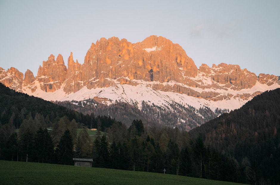 Alpenglühen, Rosengarten, Südtirol