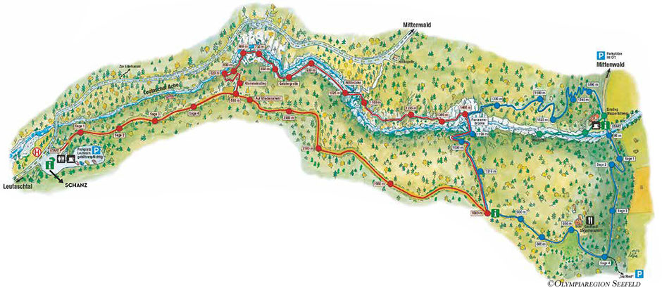 Leutascher Geisterklamm - Klammgeistweg, Koboldweg, Wasserfallsteig